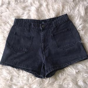 High-Rise Navy Shorts from Gap